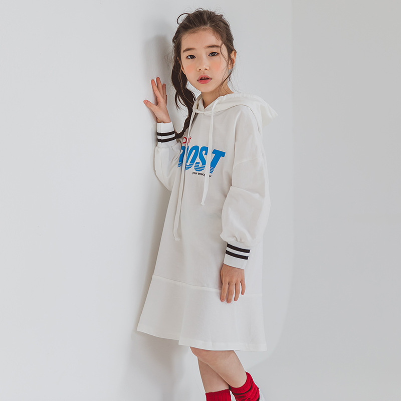 Girls Hooded Dress Autumn Winter Older Girl Dress 4 5 6 7 8 9 10 11 12 13 14 years Kids Princess Dress Teenage Girls Clothing the girl new korean pink princess dress summer for size 4 5 6 7 8 9 10 11 12 13 14 years child wedding tutu dress