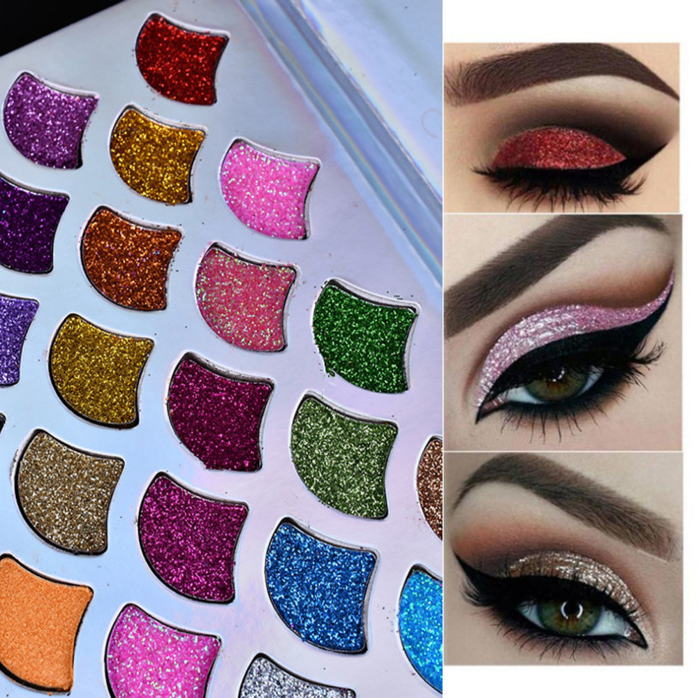 2018 Women Favorite Shimmer Glitter Eye Shadow Powder Mermaid Palette Matte Eyeshadow Cosmetic Makeup n# dropship