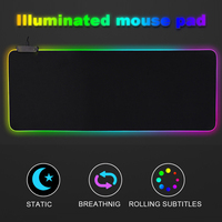 80*30cm Gaming Mouse Pad Gamer Rubber Pad Mousepad RGB Light Lighting Mice Mousepad For Computer PC Notebook Laptop