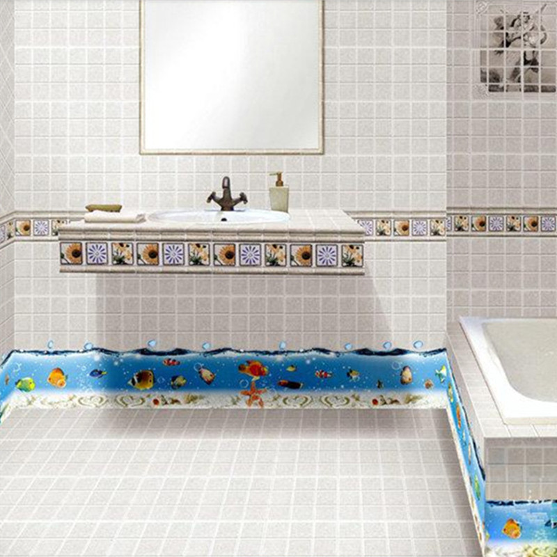 Bathroom Wall Tile Stickers Seabed World Nemo Fish Vinyl Decals Home Kitchen Kids Room Decoration Waterproof Anime Wallpaper In From