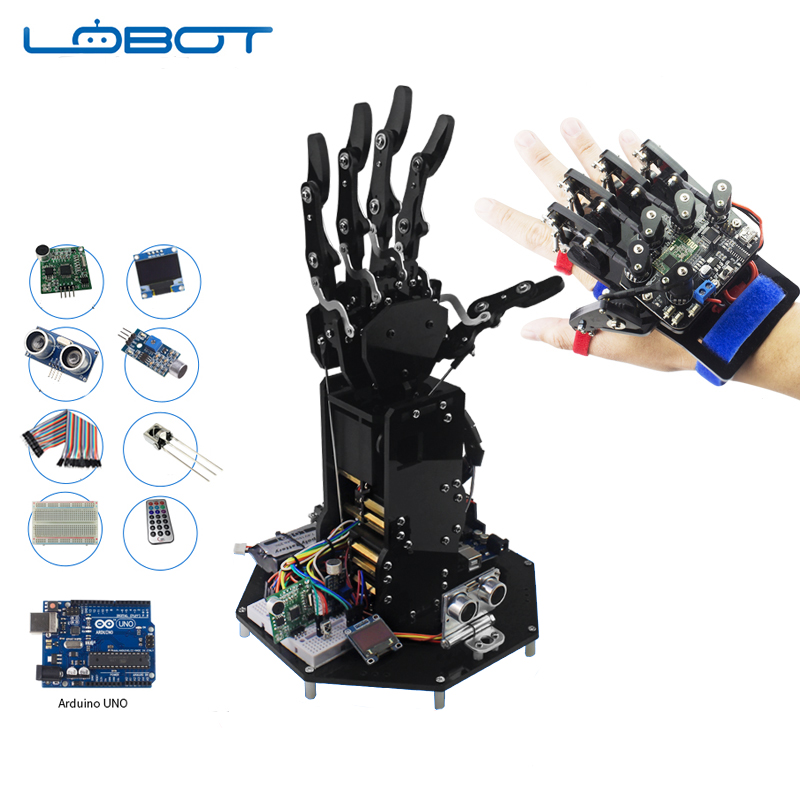 Beautiful Industrial Robot Arduino Arm Secondary Development Hand Manipulator Independent Movement Rc Parts Robot Toy Volume Large