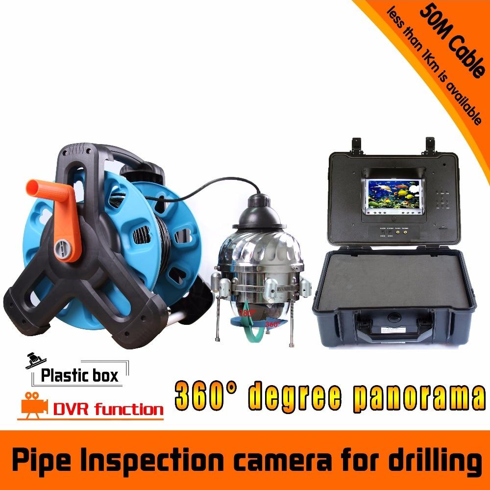 360 Degree Rotaton Under-Water 50M DVR Fishing Camera AV Handheld Endoscope цена 2017