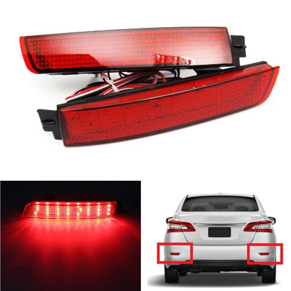 LED Bumper Reflector Red lens Tail Brake Light Lamp For Nissan Juke/Murano/Infiniti FX35/FX37/FX50