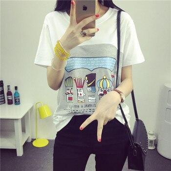 682723c51 6012   impreso de dibujos animados de algodón de maternidad de enfermería camiseta  verano lactancia T camisa ropa para mujeres embarazadas embarazo Tops