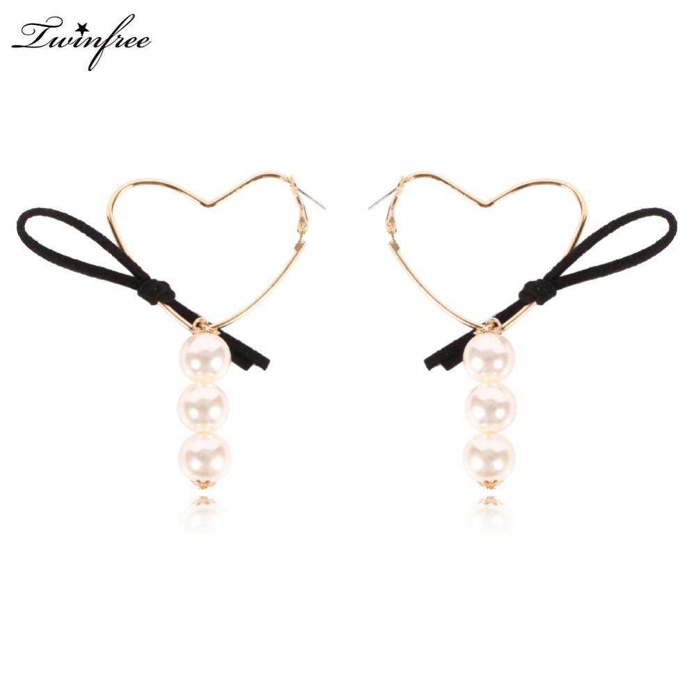 New Stylish Hoop Earrings Heart Cloth Earrings Large Earrings For Women  Hy7601(china