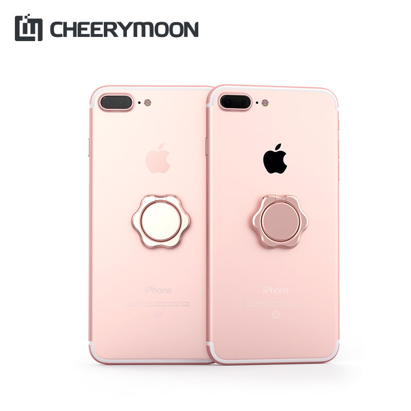 CHEERYMOON Petal Series Ring Holder Universal Mobile Phone Stand Metal Finger Grip For iPhone Samsung Huawei  Bracket
