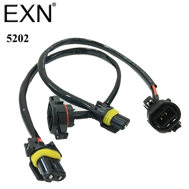 1 Pair 5202 H16 Wire Harness For Installing HID Ballast to Stock HID Headlight Bulb Socket_640x640 aliexpress com buy 1 pair 5202 h16 wire harness for installing 120V Ballast Wiring Diagram at soozxer.org