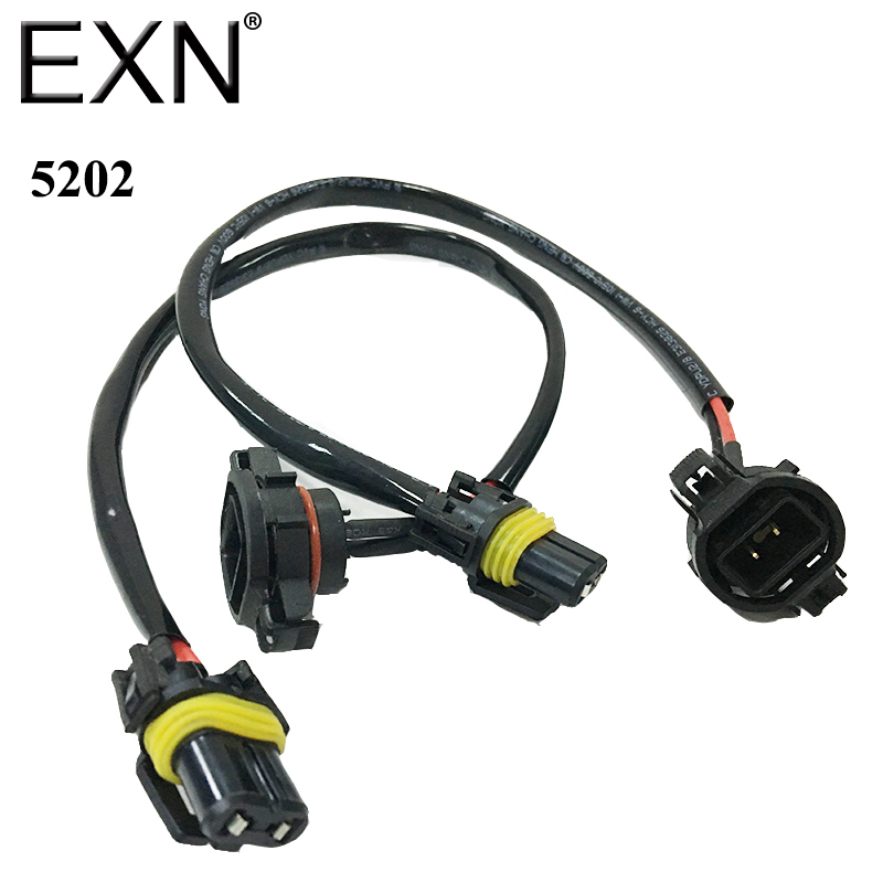 1 Pair 5202 H16 Wire Harness For font b Installing b font HID Ballast to Stock compare prices on installing headlight online shopping buy low VW Beetle Headlight Switch at nearapp.co