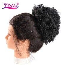 Лидия кудрявые синтетические волосы шиньон булочка для наращивания заколка для затылка в волосах 12 дюймов пончик-шиньон шевроэ 86 г/шт