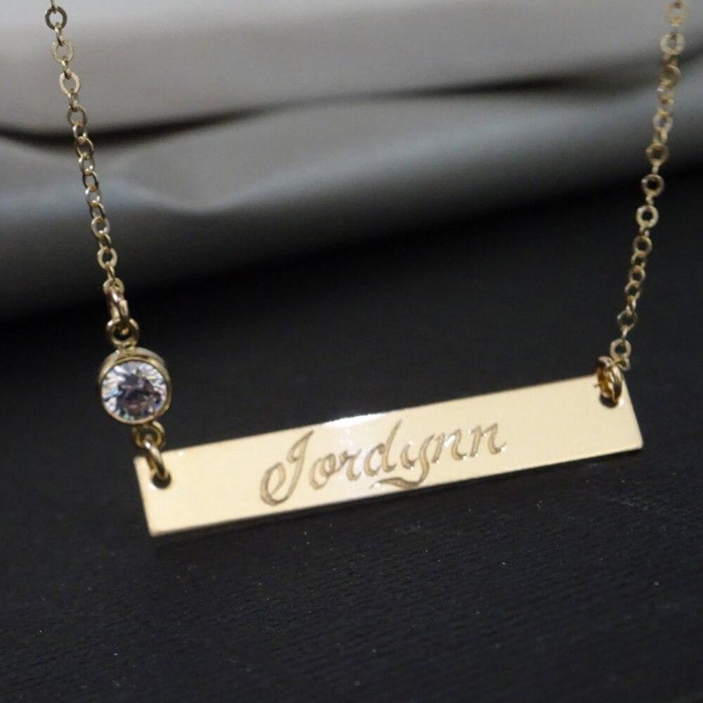 Personnalisé lettre Choker Bar Collier fait à la main or rempli bijoux personnalisé nom Collier pendentifs Collier Femme femmes bijoux