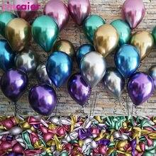 100 pçs 12 polegada 2.8g metálico grosso pérola cromo látex balões feliz aniversário decorações de festa crianças casamento hélio ar ballon