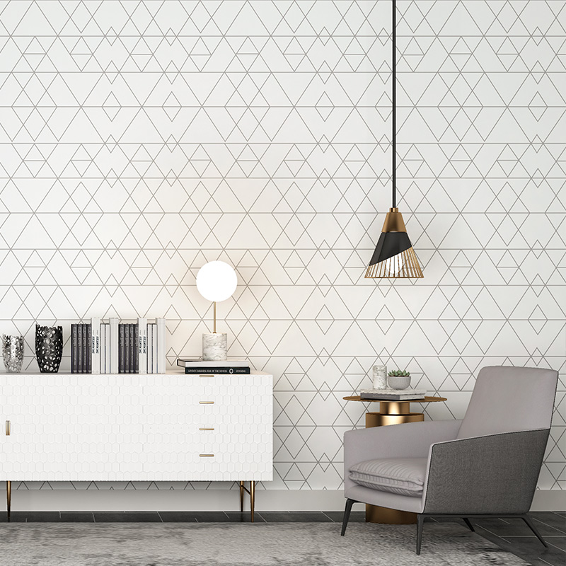 Nordic Geometric Wall Papers Home Decor Grid Triangle Vinyl Wallpaper Roll for Living Room Walls Bedroom decoracao para casa modern simplicity nordic landscape sun wallpaper geometric triangle television background wallpaper gray system home decor