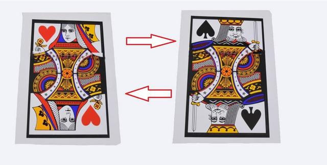 3pcs/lot Automatic Three Card Monte(Q, K) (28*42.5cm) - Magic Tricks,Classic,Illusions,Street Magic,Fun,Magic Show,Party Trick