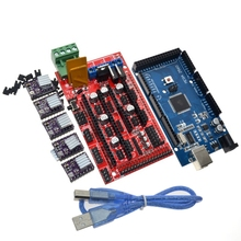 3D Printer 1pc Mega 2560 R3 + 1pc RAMPS 1.4 control panel+ 5pcs DRV8825 Stepper Motor Drive Carrier Reprap for 3D printer kit