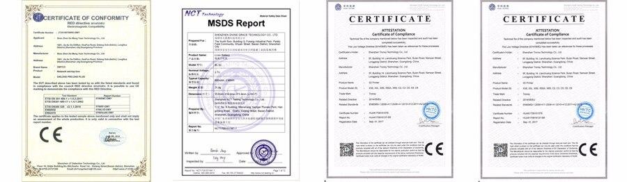 item certificates