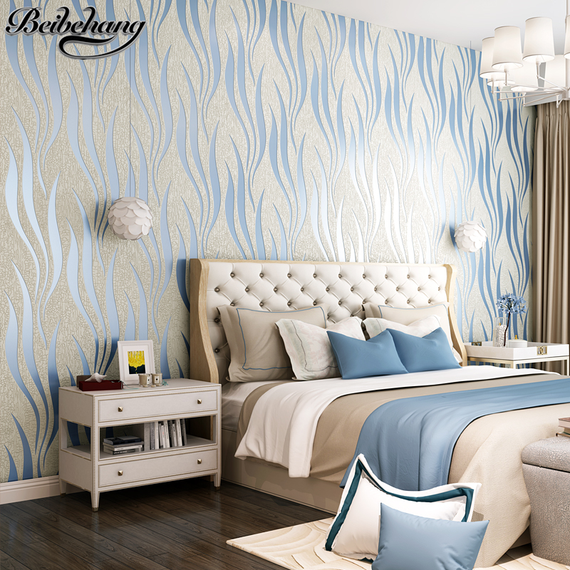 beibehang Modern Striped Nonwovens Deer Leather Wallpapers Living Room Bedroom TV Background Walls Stereo Wave Wallpapers