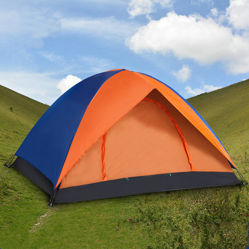 Outdoor Camping 2 Person Super Big Tent Double Layer Waterproof Large Space Tent Fishing Hanting Beach