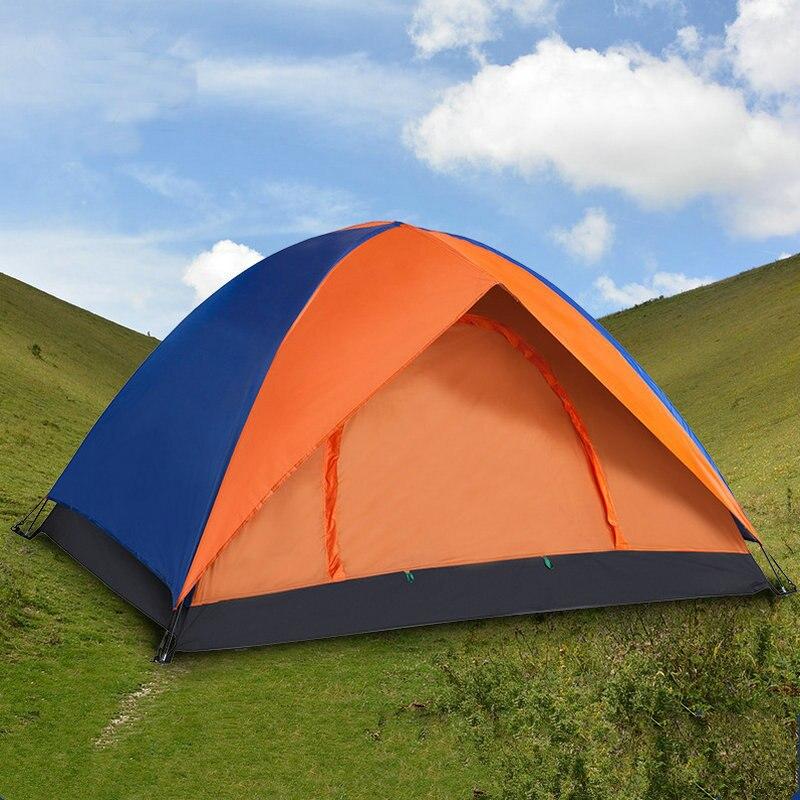 Camping en plein air 2 Personne Super Grande Tente Double Couche Étanche Grand Espace Tente De Pêche Hanting Plage Tente 200*140*110 cm