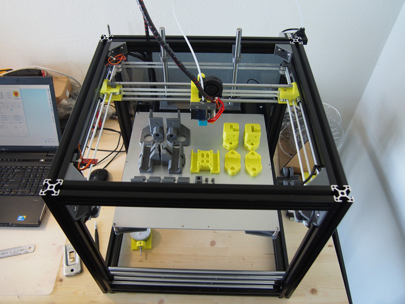 1 Set Hypercube Evolution 3d Printer Metalen Frame Extrusie Voor Diy Hypercube 3d Printer X300 X Y300 X Z300 Print Bed Gebied