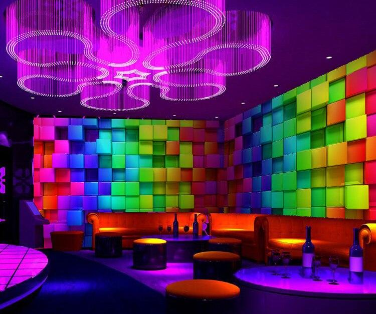 Ktv leisure bar 3d wallpaper mural modern backdrop colours for Club de suscriptores mural
