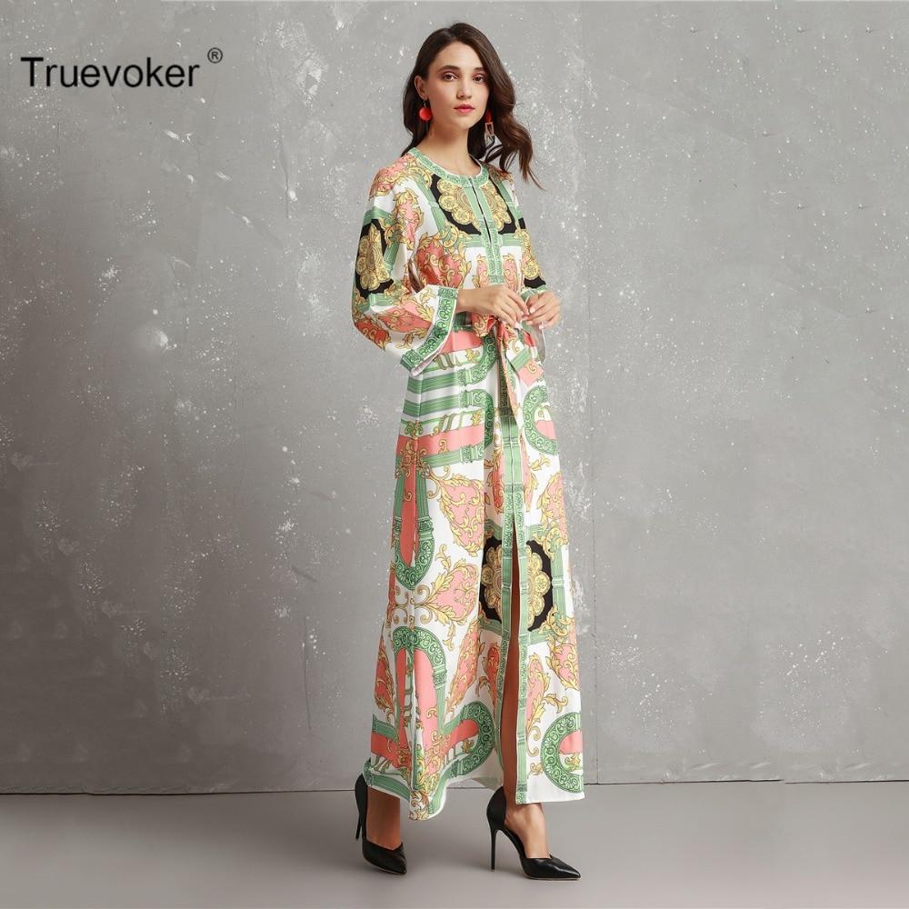 Maxi Automne Imprimé Vacances De Longues À Ete Boho Vintage Manches Size Longue Plus Femme Truevoker Robe Designer 3xl Femmes xYqZOYwd8