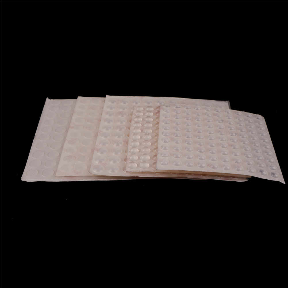 100pcs Silicon Rubber Door Stop Kitchen Cabinet Door Self Adhesive Bumper Damper Buffer Pad Hardware 5Sizes