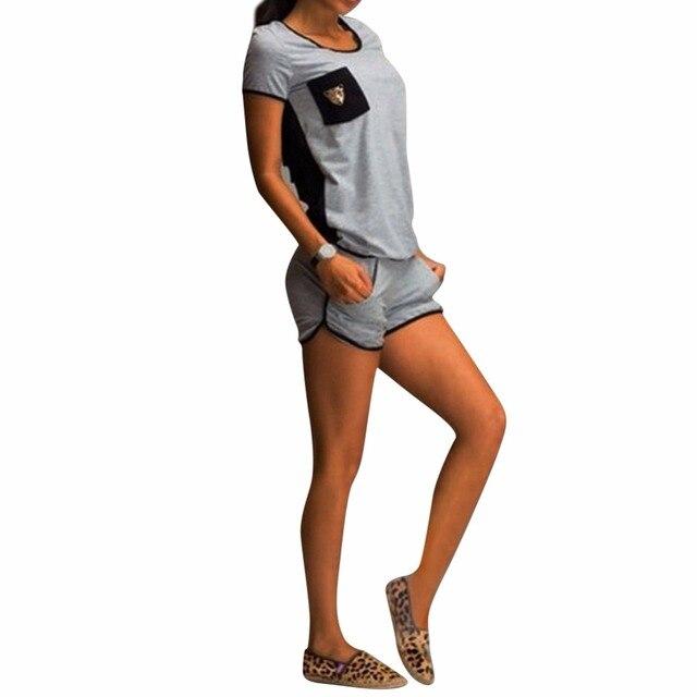Kadınlar Katı Eşofman Fitness 2 Iki Parçalı Set Marka Kıyafetler Kırpma Top ve Etek Seti Casual Spor Streç Set Femme Dışarı aşınma