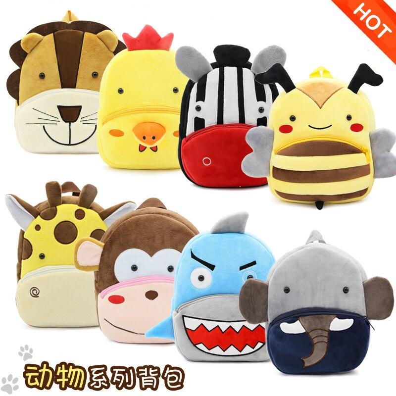 Cute Schoolbag Backpacks Bookbag Kindergarten Animal Girls Boys Children Cartoon Baby