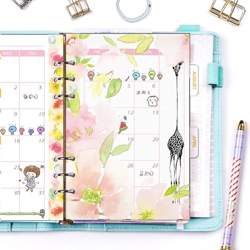 Fromthenon Hello Dream Musim Semi Seri Divider untuk Notebook Diary A5A6 Agenda Organizer Perencana Indeks Kertas Transparan