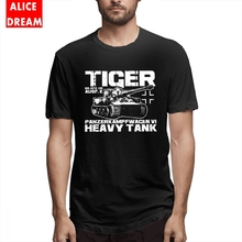 For Man Tiger I Tank T-shirt Streetwear Tee 100% Cotton S-6XL Plus Size Camiseta Hot sale Round Neck Fashionable