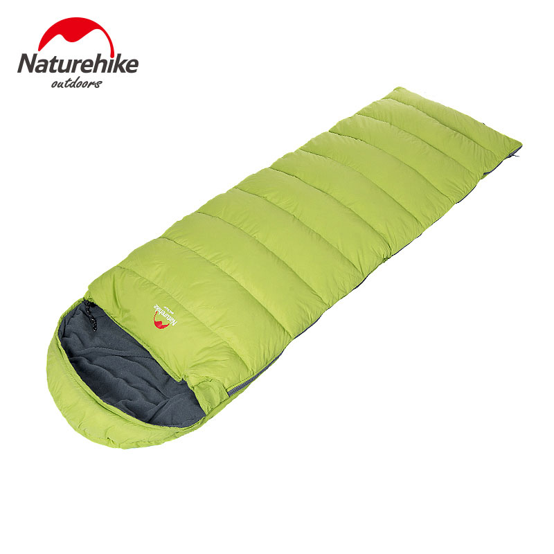 Outdoor Aduit Envelope Type Sleeping Bag Duck's Down Cotton Waterproof Sleeping Bags Camping Primaloft Can Splicing Winter Cold 210t polyester plaid sleeping bag winter sleeping outdoor camping sport adult envelope type cotton splicing single sleeping bags