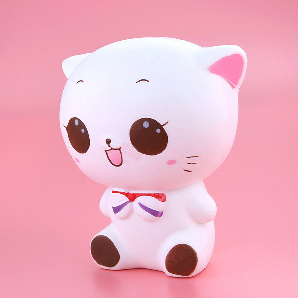 Novelty & Gag Toys Provided Squishy Kitty Cat Doll Slow Rising Soft Pinch Stressreliever Kid Toy Phone Charm Stress Relief Reliever Squishy Toy Hot Gags & Practical Jokes