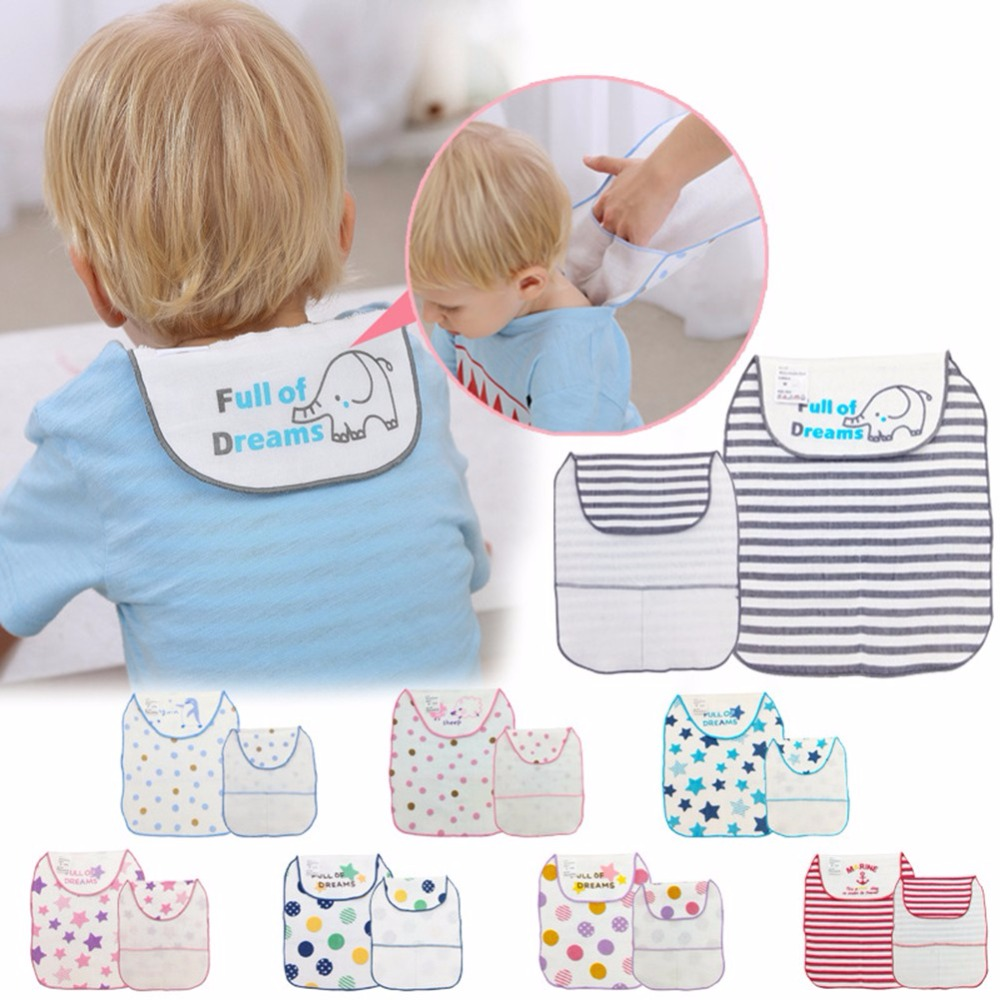 2018 New Double Layers Baby Sweat Towel Infant Soft Back Dry Wipe Cloth Cartoon Printed Baby Back Gauze Absorb Towel Outdoor