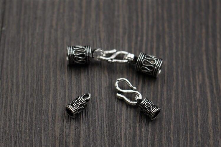 Real 925 Sterling Silver Clasps Hooks Buckle suit DIY Bracelet Necklace Fine Jewelry Findings in Jewelry Findings Components from Jewelry Accessories