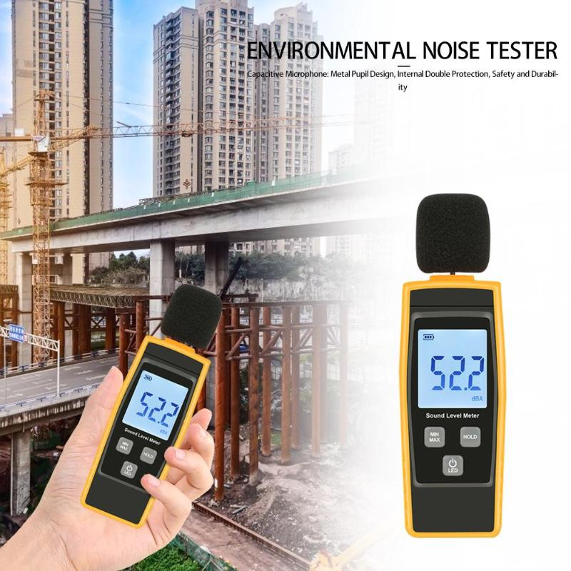 30-130dB Mini Audio Sound Level Meter Decibel Noise Measuring Instrument Detector Digital Diagnostic-tool Automotive Microphone