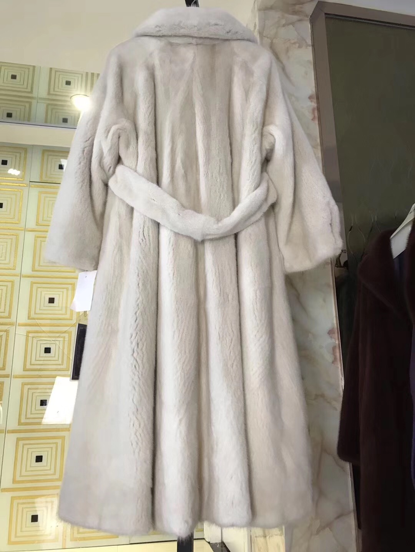 Natural Real Mink Fur Coat Long  Jacket  mink coat outwear women