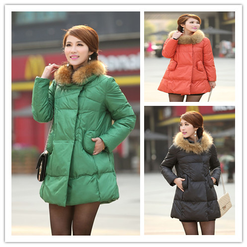 Autumn and winter new Europe and the United States large size down jackets  long section dolls cloak hair catcher pregnant women europe and the united states long sleeve hooded keep out the cold winter to keep warm and comfortable cotton coat