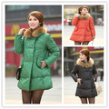 Autumn and winter new Europe and the United States large size down jackets  long section dolls cloak hair catcher pregnant women