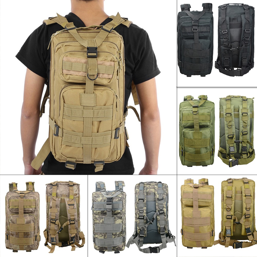 Multifunctional Tactical Army Military Assault Rucksack Outdoor Sports Camo Bag Backpack Hiking Climbing Travel Back Pack