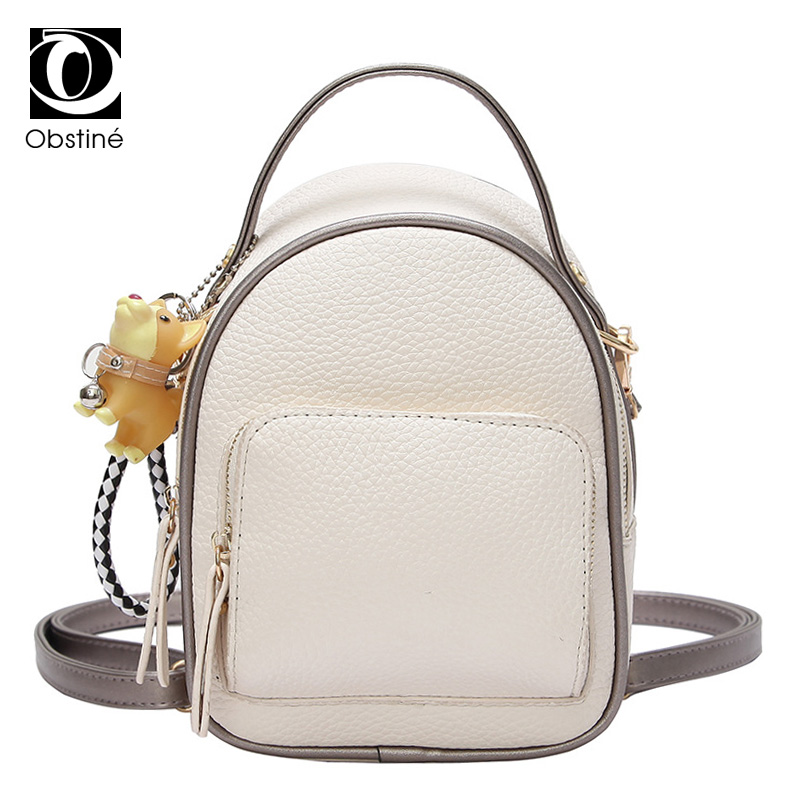 Fashion Small Backpack Women PU Leather White Mini Backpacks for Girls Cute Top Handle Female Back Pack with Zipper Shoulder Bag leftside 2017 women leather backpack children backpack mini backpack women cute back pack backpacks for teenage girls small bag