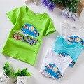 Sz100 ~ 140 ropa del verano de los niños tops camisetas manga corta camisetas camiseta de las muchachas s4color