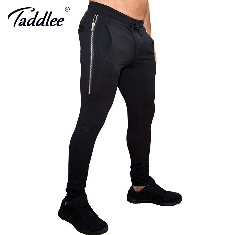 Taddlee Brand Leggings Men Running Trousers Jogging Skinny Basic Pants Active Slim Fit Bottoms SweatPants with Pockets men s jeans homme denim pants for men straight casual skinny male slim fit clothes big size 30 48 masculino washed trousers e485