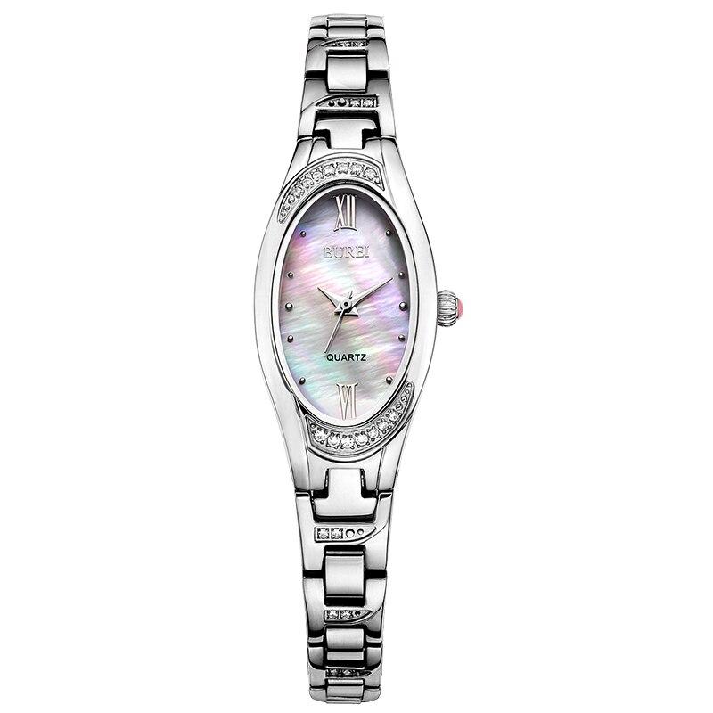 BUREI 3022 Switzerland watch Women Watch Luxury Female Clock Steel Strap Bracelet Waterproof Diamond Quartz Wristwatch Hot Sale yagexing 5054 female diamond quartz chain watch steel watchband