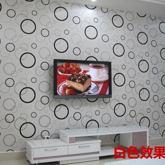 Modern waterproof Circle brief tv background pvc wall geometry paper  small circle wallcoveringvings for living room non woven bubble butterfly wallpaper design modern pastoral flock 3d circle wall paper for living room background walls 10m roll