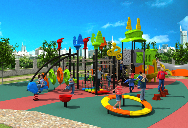 CE,ISO,TUV Outdoor Playground Structure Children Climbing Equipment Kids  Sport Facility YLW