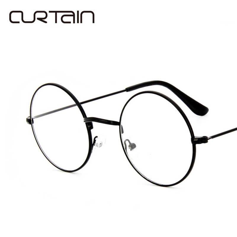 ba919abee883 2017 Men Women Round Retro Metal Frame Eyeglass Vintage Lens Glasses Male  Female Circle Plain Mirror