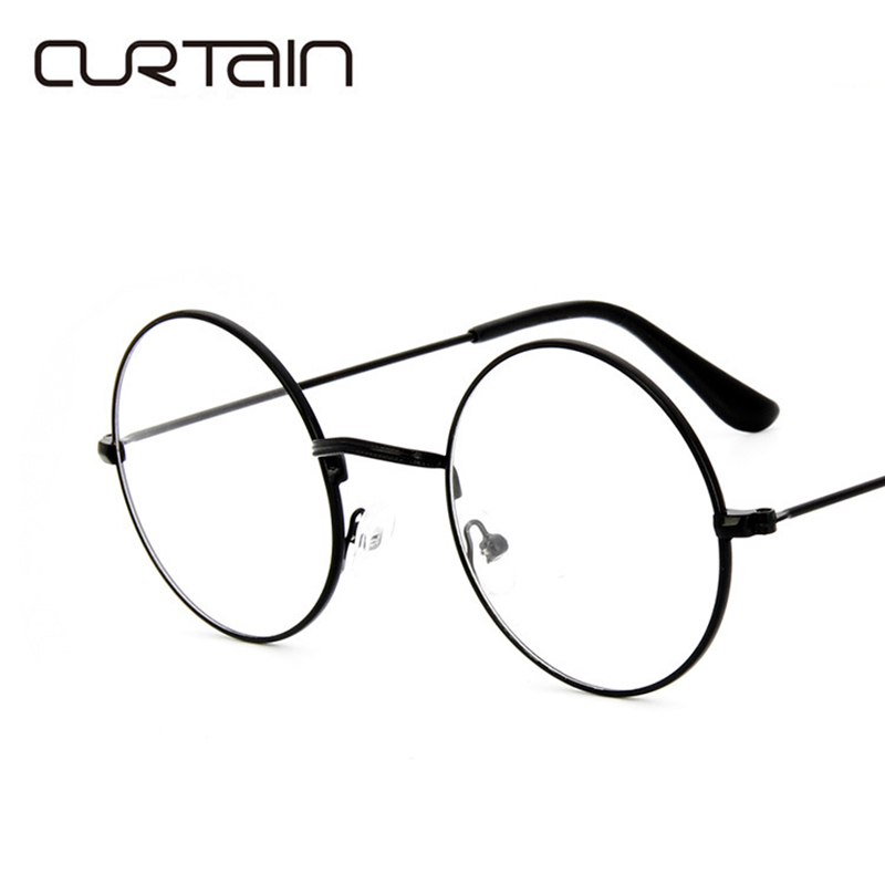2017 Men Women Round Retro Metal Frame Eyeglass Vintage Lens Glasses ...