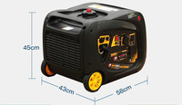 small family trailer 3kw digital frequency conversion four stroke gasoline generator 220V silent generator