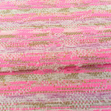 145cm Width Hot Pink Yarn Dyed Weaving Tweed Fabric with Metallic Gold Thread for Woman Autumn Winter Coat Pants Sewing-AF900(China)