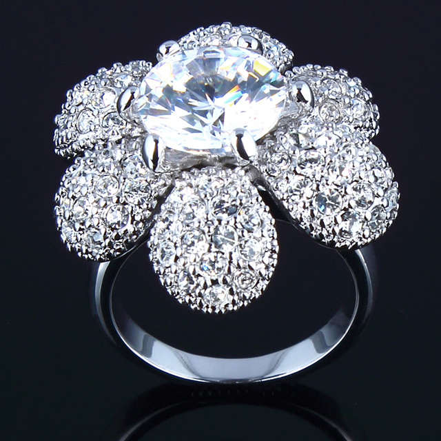 Fashion rings for women 2015 Natural stone Cubic Zirconia Prong Setting Women Finge Ring Bridal Jewelry Sale wholesale